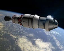 Image above: An artist concept shows<br /> Orion as it will appear in space for<br /> the Exploration Flight Test-1 attached<br /> to a Delta IV second stage.<br /> Image credit: NASA<br /> <a href='http://www.nasa.gov/images/content/730512main_TRiLAS-lrg.jpg' class='bbc_url' title='External link' rel='nofollow external'>� View larger image</a>