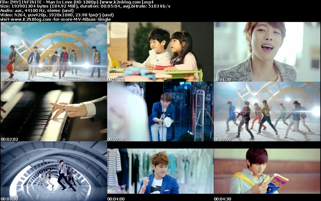 (MV) INFINITE - Man In Love (HD 1080p Youtube)