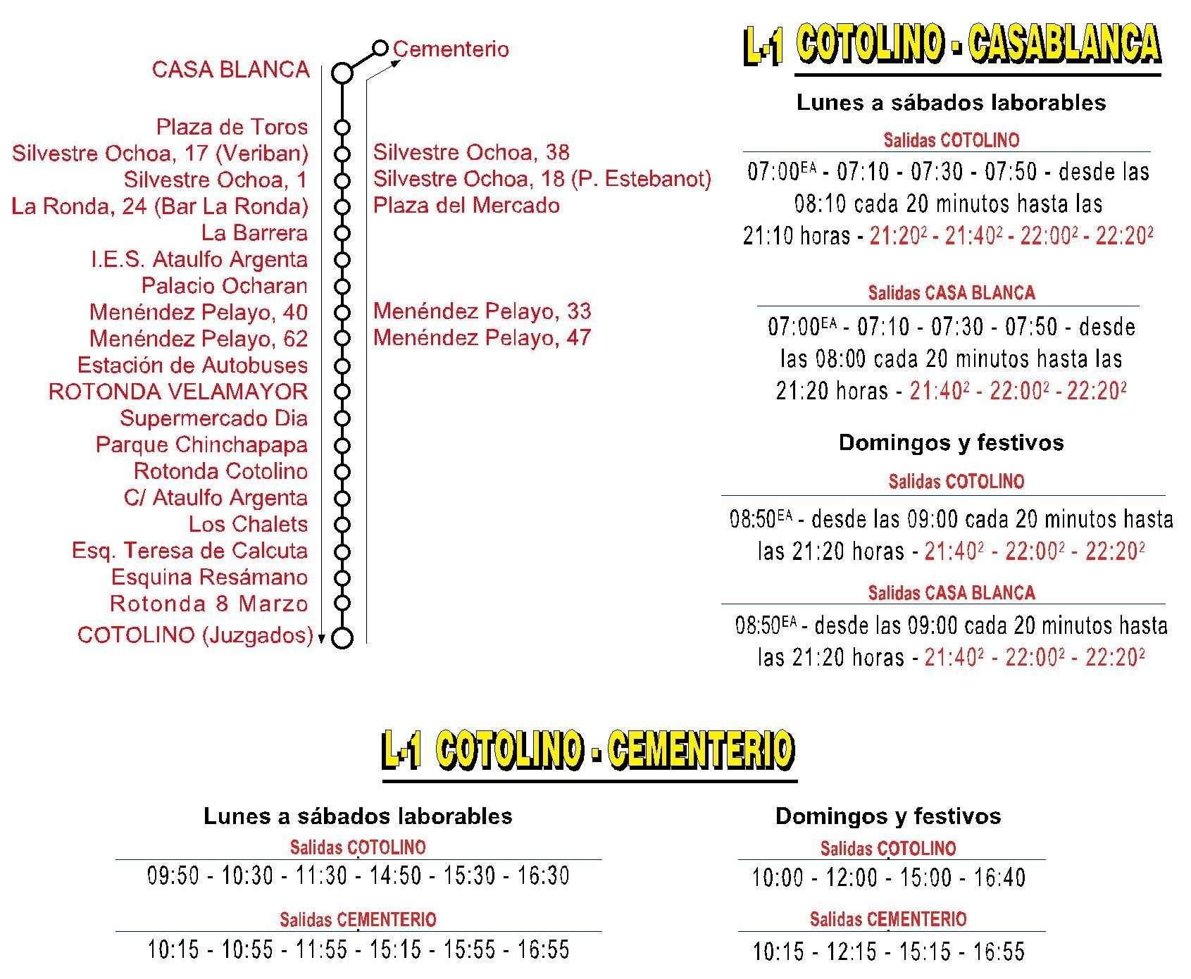 castrobus linea 1