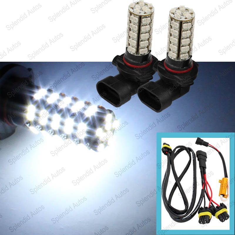 White 9005 LED Daytime Running Light Kit With 68-smd LED